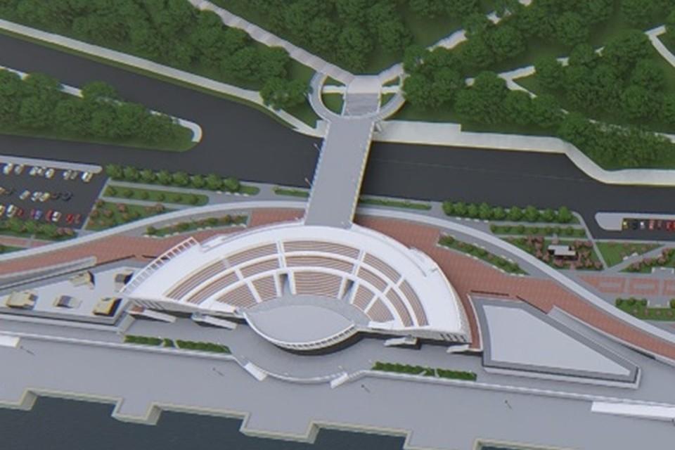 Так будет выглядеть пешеходный мост. Фото: администрация Волгограда.