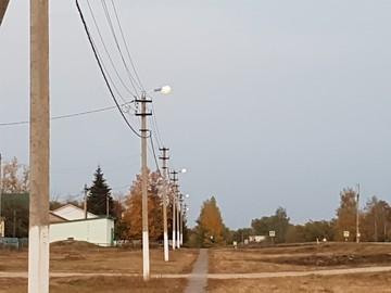 Россети Липецкэнерго повысили освещенность центральной улицы одного из сел Лебедянского района