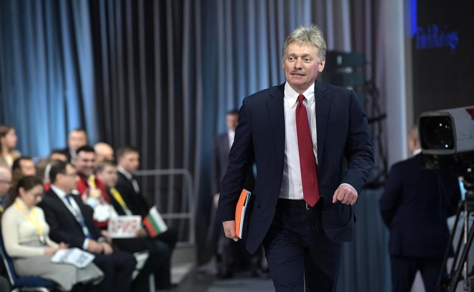 Кремль прокомментировал встречу Макрона с Тихановской