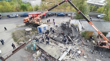 В Тамбове на улице Монтажников врыв газового баллона разрушил четыре гаража: под завалами может находиться человек
