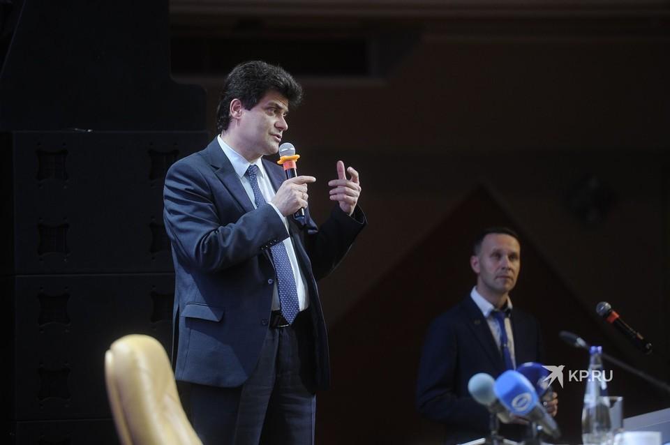 Пресс-конференция проходила в ЦК «Урал».