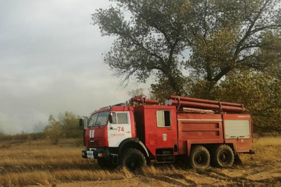 В донской столице продолжают полыхать ландшафтные и лесные пожары. Фото: ГУ МЧС