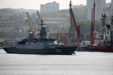 Новый корвет, названный в честь Героя России Алдара Цыденжапова, вышел на испытания в Японское море