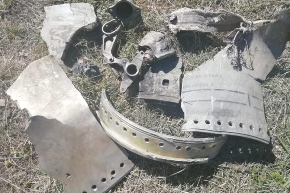 В воронке пастух нашел обломки какого-то снаряда