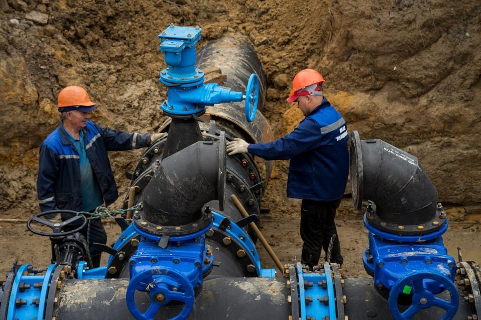 В Орле закончили строительство водовода на Высоковольтной