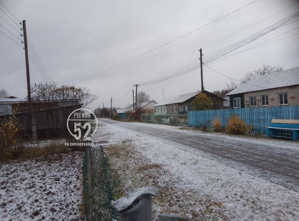 """""""С первым снегом, друзья!"""": первый снег выпал в Нижегородской области 18 октября"""