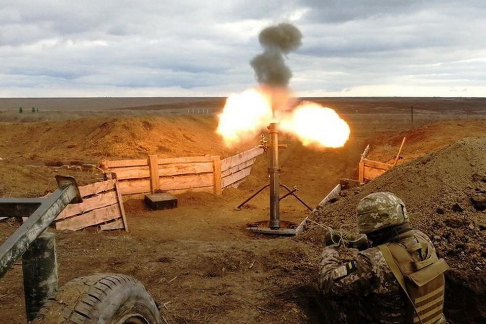 Украинские военные применили тяжелые минометы. Фото: Пресс-центр штаба ООС