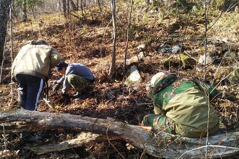 Раскопки проходили за селом Хутор. Фото: «Авиапоиск».