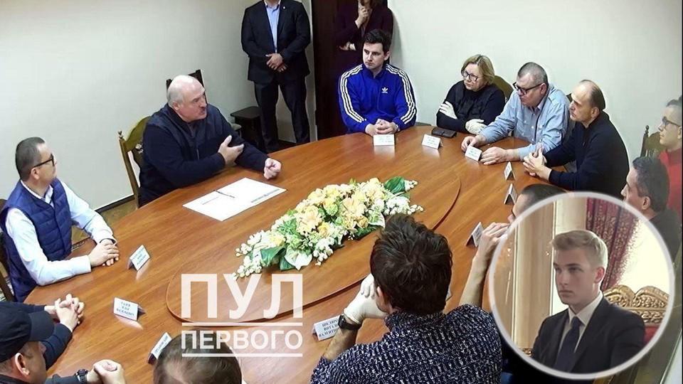 По словам Воскресенского, никто до последнего не знал, что в СИЗО приедет Лукашенко... Ещё и с сыном. Фото: t.me/pul_1