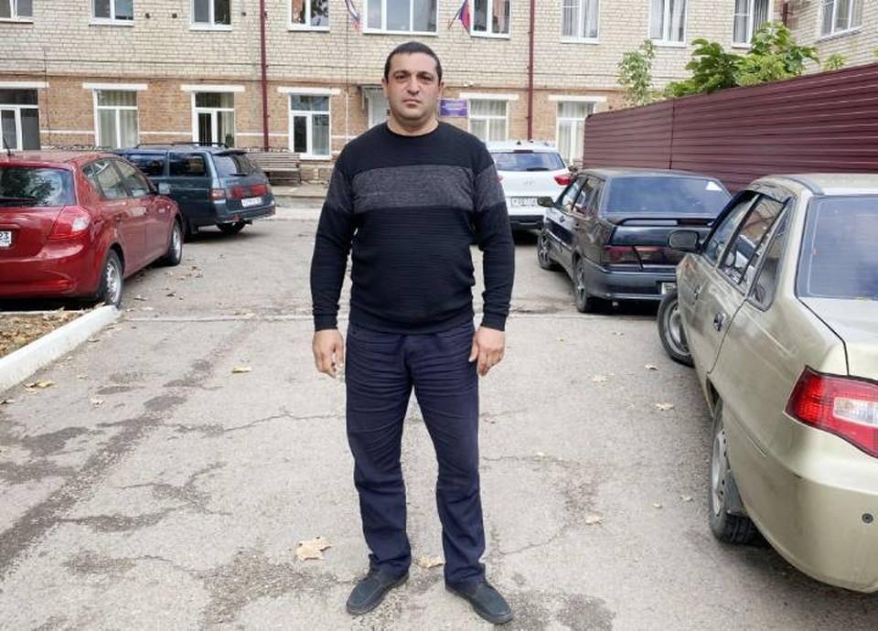 Андраник Хачатрян. фото ГУ МЧС по краю