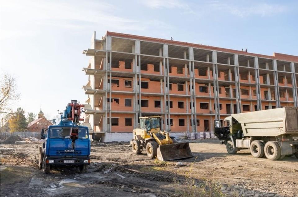 Строительство инфекционного корпуса в Сызрани идет по графику