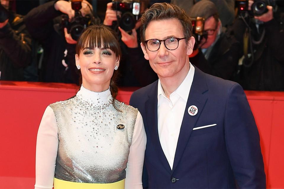 Мишель Хазанавичус c супругой актрисой Беренис Бежо.
