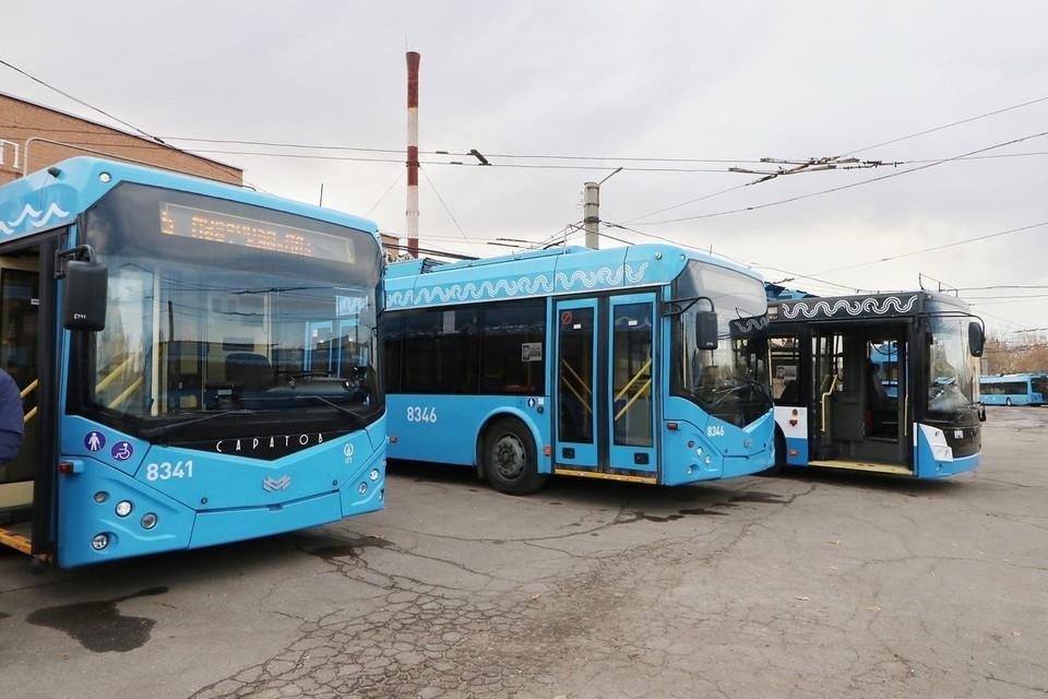 В Ленинском депо начали работу прибывшие из Москвы троллейбусы