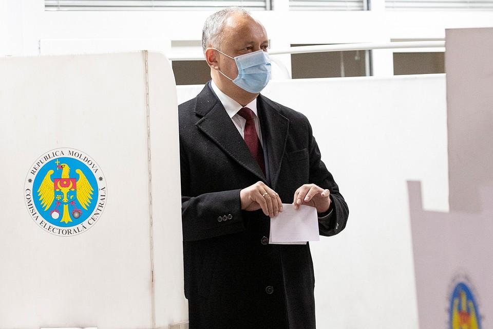 Действующий глава государства Игорь Додон