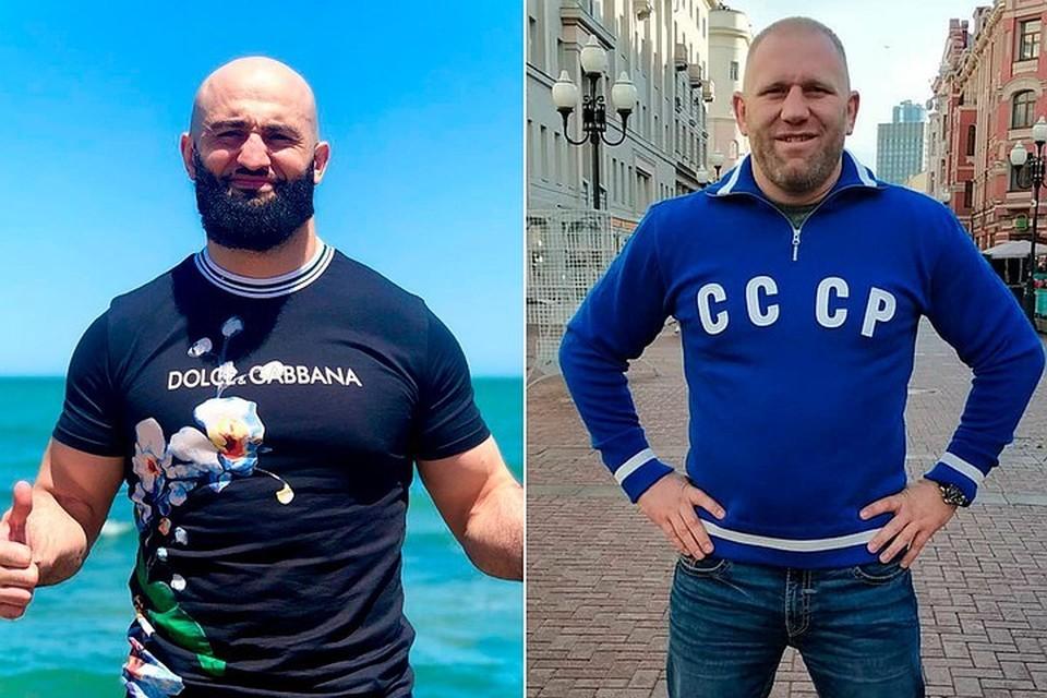 Сергея Харитонова (справа) после драки с Адамом Яндиевым госпитализировали