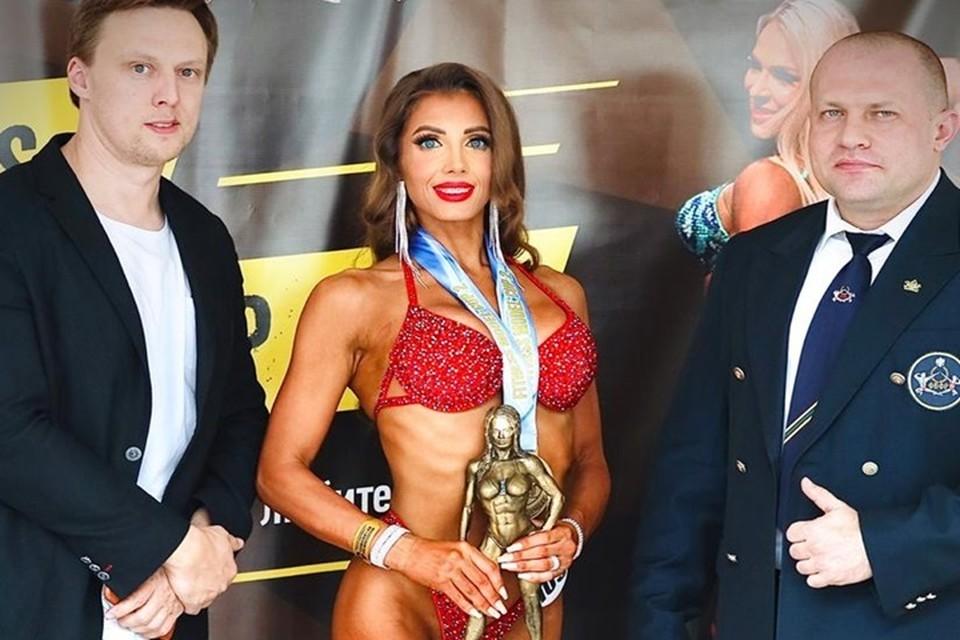 Нина Комарова на вручении награды. Фото предоставлено из личного архива модели