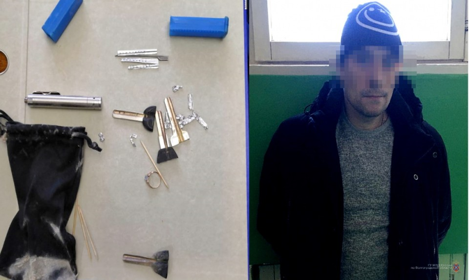 В карманах у задержаного нашли и отмычки для дверей, и украденные ювелирные украшения.