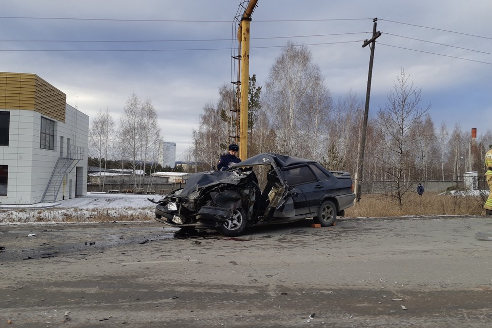 ДТП в Миассе на объездной дороге. Фото: Савелий Васильев vk.com/Инцидент Миасс