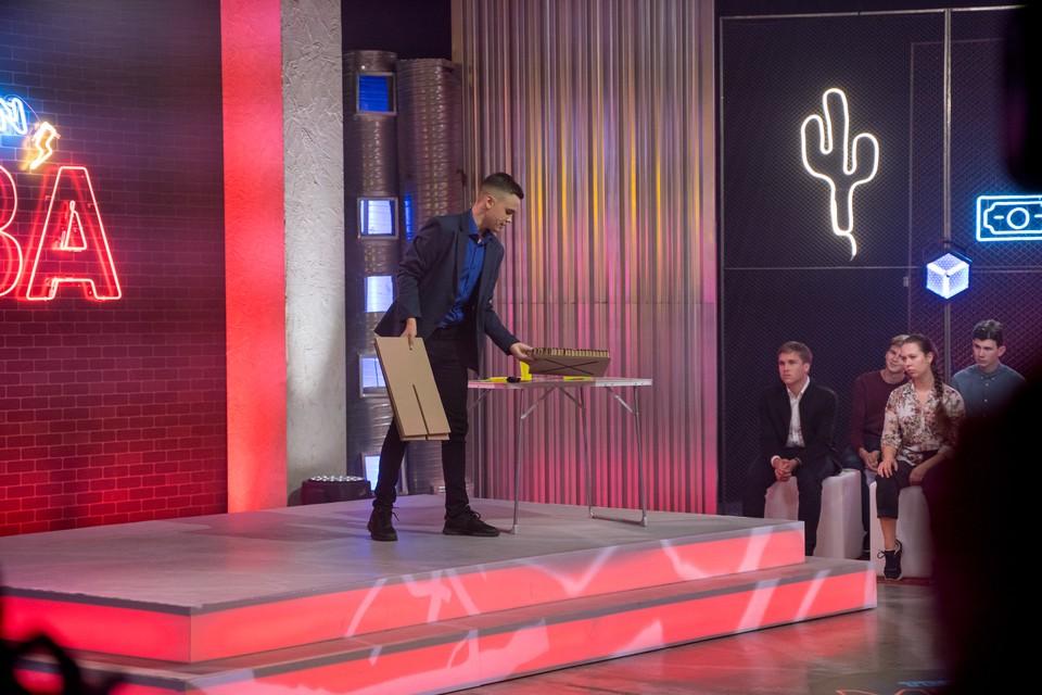 Школьник из Ижевска представил «Одноразовый табурет» на стартап-шоу