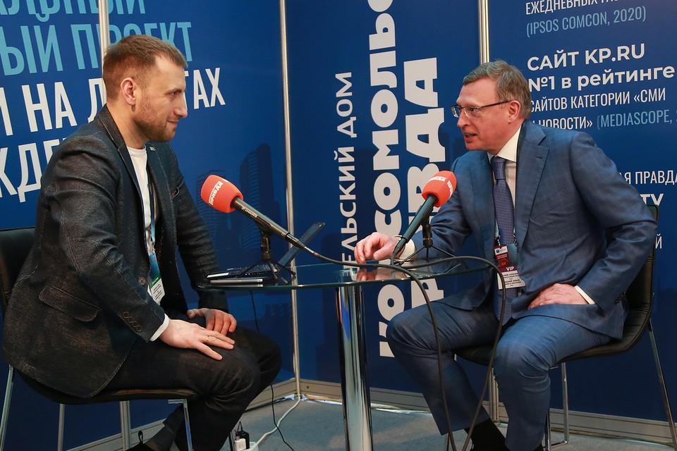 Губернатор Омской области Александр Бурков в открытой студии «КП».