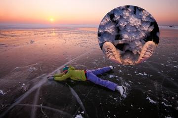 Почти как на Байкале: новосибирцы показали, как катаются на коньках по морю