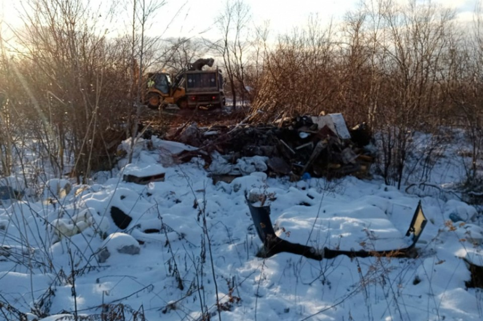 Под Хабаровском ликвидировали крупную незаконную свалку ФОТО: Администрация Хабаровского района