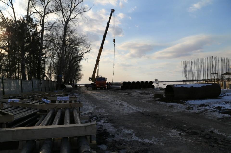 В Хабаровске возобновили реконструкцию набережной