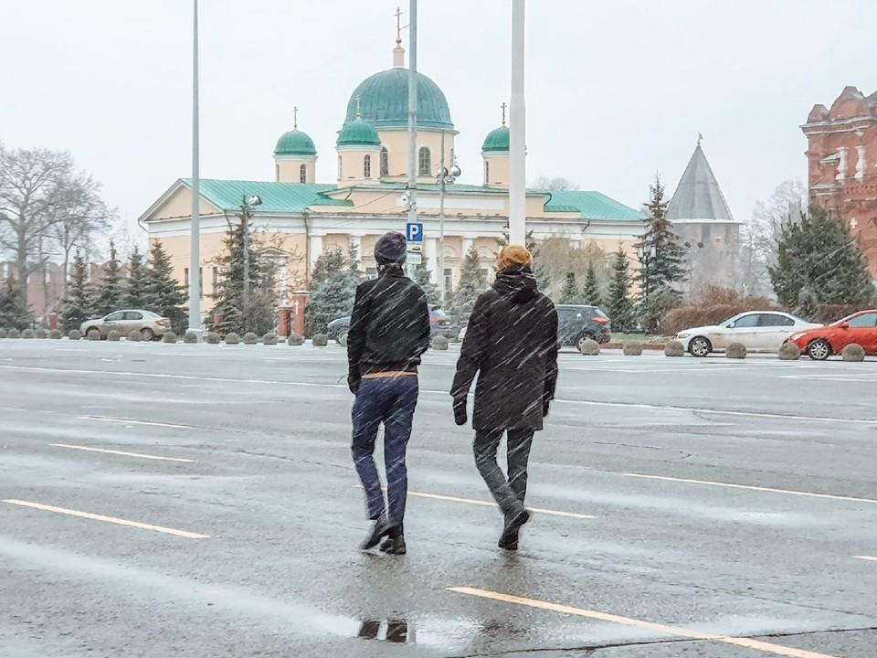 27 ноября в Туле обещают плюсовую и снежную погоду