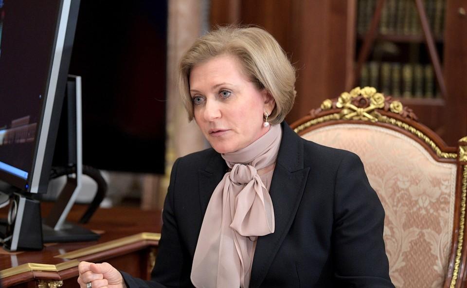 Анна Попова заявила о замедлении роста случаев COVID-19 в России
