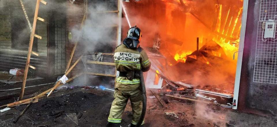 С огнем пытаются справиться почти 200 человек. Фото: ГУ МЧС России по РО.