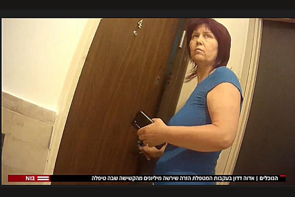 "Лючия Саратьян. (Кадр из сюжета телеканала ""12Кешет"")."