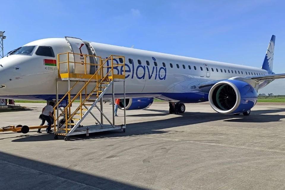 К 24 декабря новейший самолет Embraer E2 авиакомпании «Белавиа» уже будет в Минске. Фото: «Белавиа».