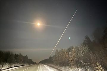 Таинственный объект запечатлели в небе над Иркутской областью