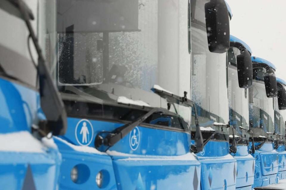 23 новых автобуса получили города и районы Кузбасса по программе обновления транспорта. Фото: Пресс-служба АПК