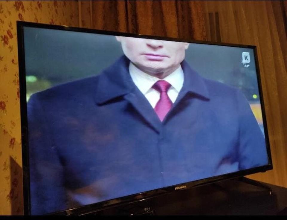 Такое новогоднее обращение Владимира Путина увидели калининградцы.