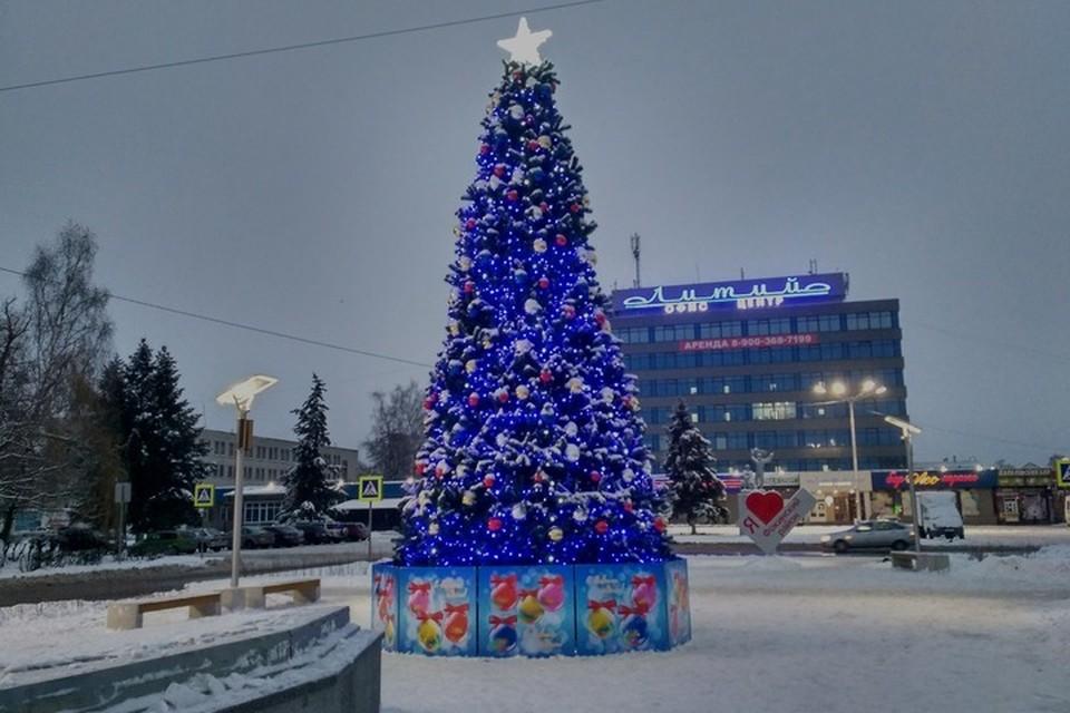 Установленные в Брянске елки не стали местами массовых гуляний в новогоднюю ночь.