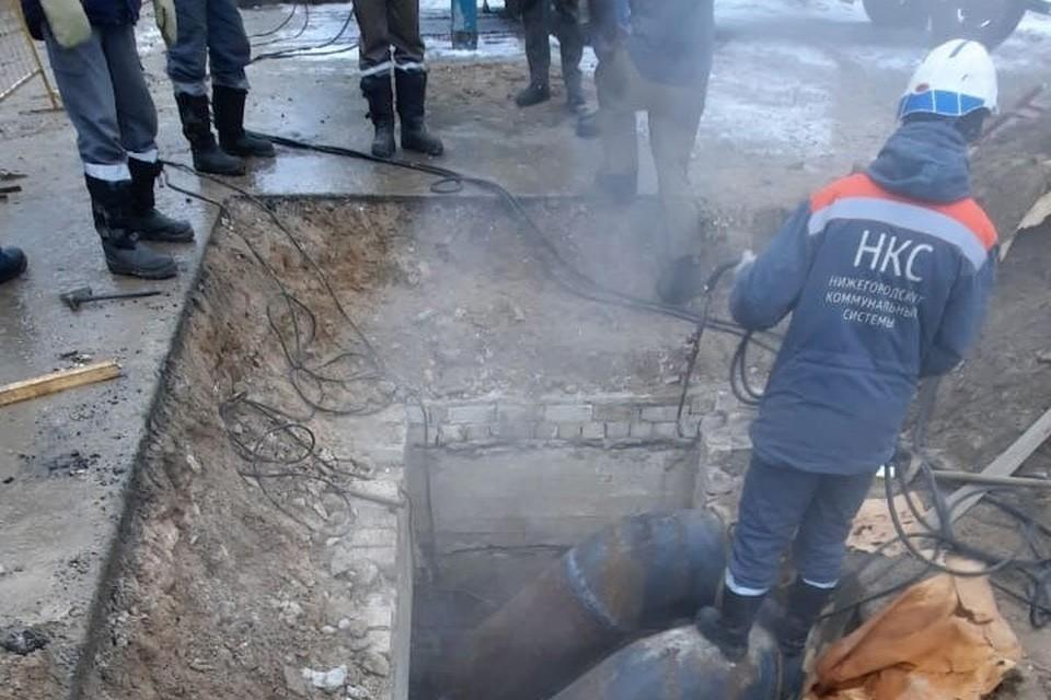 Аварию на трубопроводе в Дзержинске устранили. Фото: администрация Дзержинска