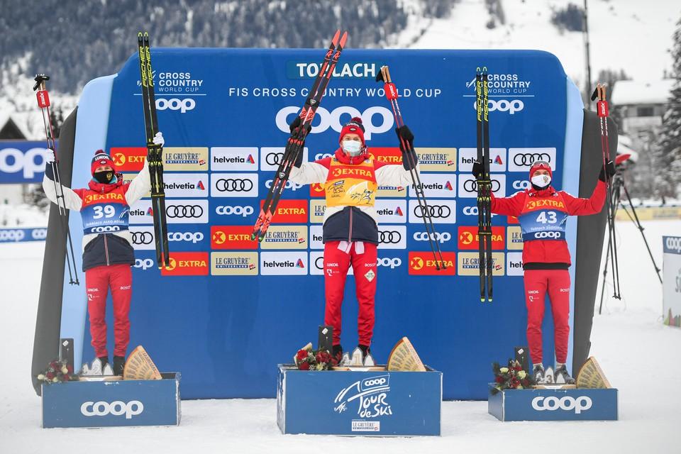 Российские лыжники заняли первые пять мест в индивидуальной гонке на «Тур де Ски»