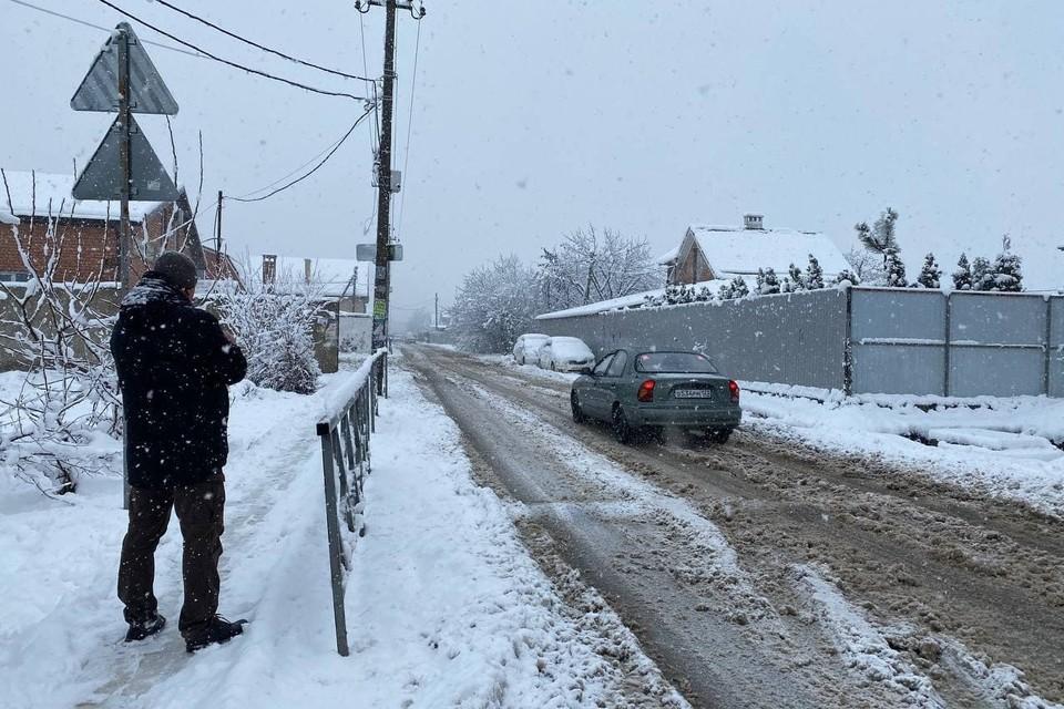 Последствия снегопада в Краснодаре 10 января 2021