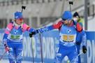 Российские биатлонисты выиграли «золото» в эстафете на этапе Кубка мира. До этого 43 гонки прошли без медалей