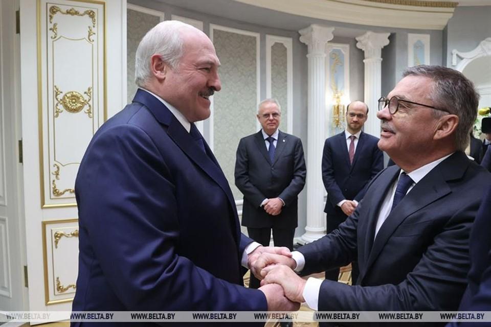 Лукашенко и Фазель встретились как старые друзья. Фото: БелТА.