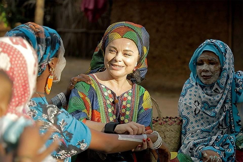 Наташа Королева участвует в новом проекте, который снимают в Занзибаре