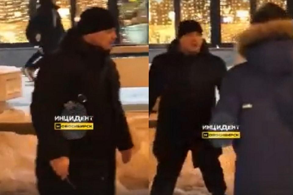 Сибиряк набросился на людей с ножом. Фото: стоп-кадр.