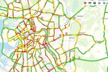 9 баллов и «день жестянщика»: жесткие пробки сковали Санкт-Петербург вечером 15 января
