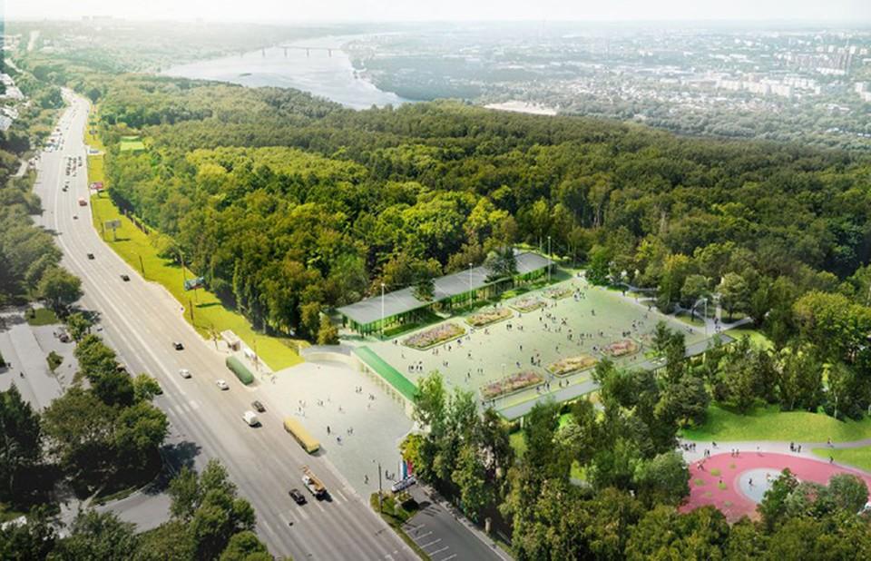 """Детский парк, гирлянды и высокие цветники: Как изменится центральная площадь парка «Швейцария». ФОТО: ТК """"Парк Швейцария"""""""