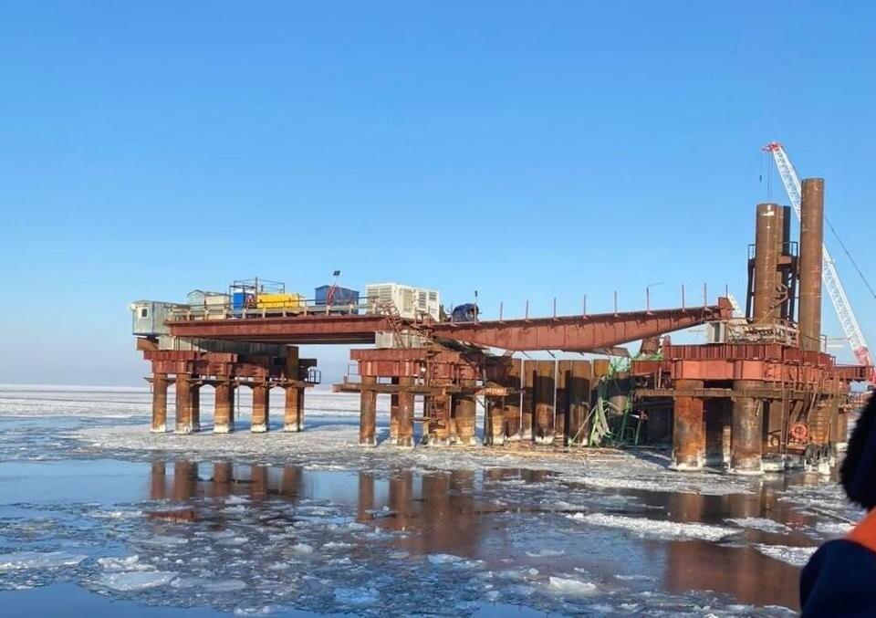 В декабре при строительстве моста у Климовки погибли два рабочих
