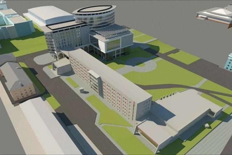 Проект нового корпуса АлтГУ. Фото: АлтГУ