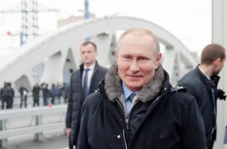 Путин открыл транспортную развязку в Химках. Фото: Михаил Метцель/ТАСС