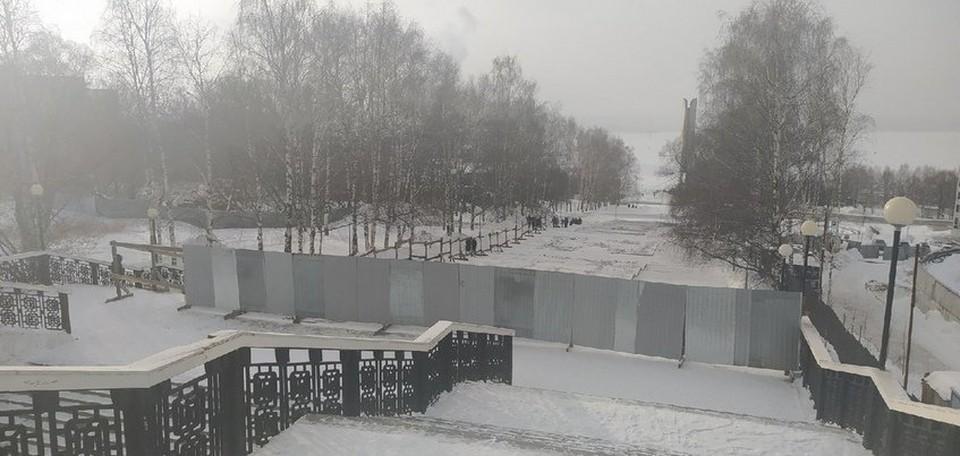Проход по эспланаде частично закрыли в Ижевске
