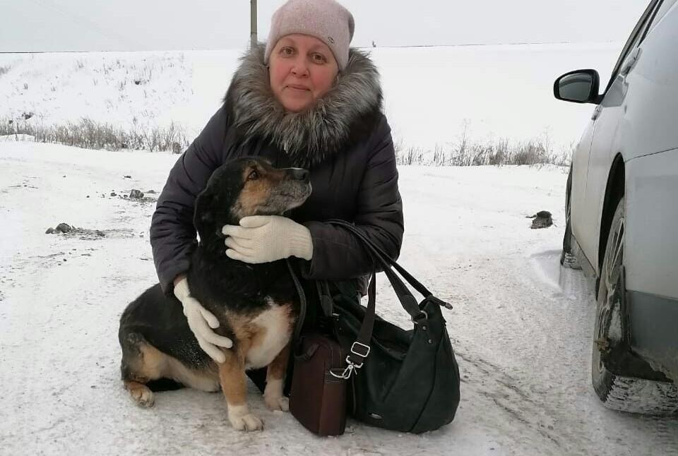 Ольга и Чип после долгой разлуки.